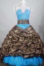 Exquisite Ball Gown V-neck Brush Quincenera Dresses TD260056