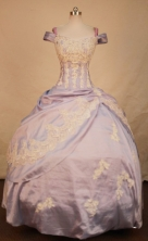 Fashionable Ball Gown Off The Shoulder Floor-length Taffeta Quinceanera dress Style FA-L-304