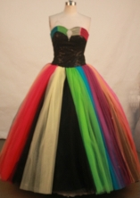 Fashionable Ball Gown Sweetheart Floor-length Colorfull Organza Quinceanera dress Style FA-L-129