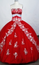 Gorgeous Ball Gown Sweetheart-neck Floor-length Beading Quinceanera Dresses Style FA-C-049