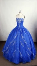 Perfect Ball Gown Strapless Floor-length Organza Quinceanera Dresses Style FA-C-074