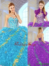 Popular 2016 Sweetheart Quinceanera Gowns in Multi Color SJQDDT149002FOR