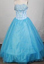 Popular Ball gown Strapless Floor-length Quinceanera Dresses Style FA-W-r90