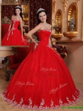 Pretty Ball Gown Strapless Quinceanera Dresses with Appliques  QDZY7527BFOR