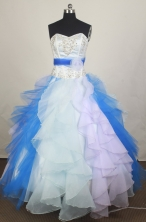Pretty Ball Gown Sweetheart  Floor-length Quinceanera Dress LHJ42707