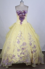 Pretty Ball Gown Sweetheart Floor-length Quinceanera Dress ZQ12426013