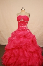 Pretty Ball gown Strapless Floor-Length Quinceanera DressesStyle FA-Y-25