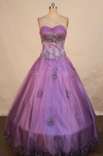 Pretty Ball gown Sweetheart neck Floor-Length Quinceanera Dresses Style FA-Y-18