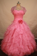 Pretty Ball gown Sweetheart neck Floor-Length Quinceanera Dresses Style FA-Y-205