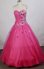 Pretty Ball gown Sweetheart-neck Floor-length Quinceanera Dresses Style FA-W-r89
