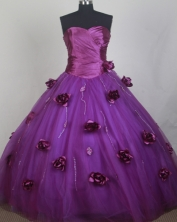 Romantic Ball Gown Sweetheart Neck Floor-length Quinceanera Dress LZ426047