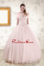 2015 Beading Ball Gown Quinceanera Dresses in Light Pink XFNAO800AFOR
