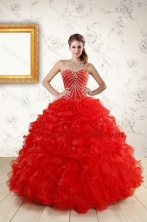 2015 Fashionable New Style Quince Dresses With Beading and Ruffles XFNAO092TZFXFOR
