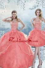 2015 Gorgeous New Style Beading Quinceanera Dresses in Watermelon XFNAOA27TZFOR