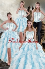 2015 Gorgeous New Style Ruffles Quinceanera Dresses in Multi Color XFNAO056TZA2FOR