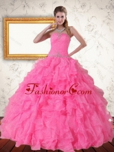 2015 Perfect Strapless Quinceanera Dress with Beading and Ruffles PDZY724TZFXFOR
