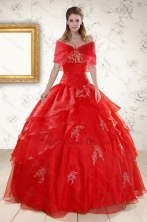 New Style Strapless Quinceanera Dresses with Appliques XFNAO669AFOR