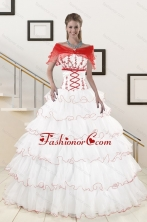 Pretty Ruffeld Layers 2015 Quinceanera Dresses with Strapless XFNAO415AFOR