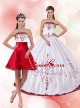 Pretty Strapless 2015 Perfect Quinceanera Dress with Embroidery PDZY535TZFOR