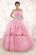 The Most Popular Appliques Baby Pink Dresses for Quinceanera XFNAO5850-2FOR