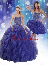 The Most Popular Royal Bule Quinceanera Dresses with Beading and Ruffles XFNAO7751TZFOR