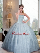 2015 Unique Sweetheart Ball Gown Quinceanera Dresses with Beading QDDTD27002FOR
