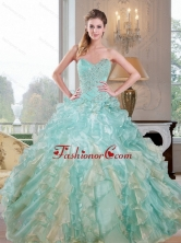 2015 Unique Sweetheart Dress for Quince with Beading and Ruffles QDDTC2002FOR