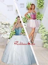 2016 Unique Sweetheart High Slit Detachable Quinceanera Dresses SJQDDT249001-1FOR