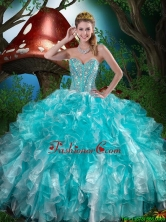 2016 Winter Quinceanera Dresses with Beading and Ruffles QDDTA79002FOR