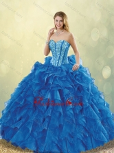 Classical Beading Sweetheart Detachable Quinceanera Dresses in Blue SJQDDT205002FOR