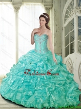Elegant Ball Gown Quinceanera Dresses with Beading for 2015 Summer SJQDDT59002FOR