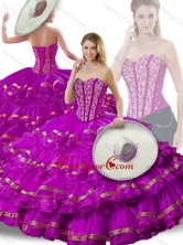 Gorgeous Beading and Ruffled Layers Fuchsia Detachable Quinceanera Dresses SJQDDT254002-4FOR