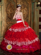 Handmade Luxurious Colorful Ruffles Layered Beading 2013 Potrerillos Honduras  Quinceanera Gowns Organza Wholesale Style QDZY247FOR