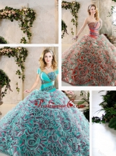 Hot Sale Beading and Ruffles Quinceanera Dresses with Sweetheart SJQDDT240002FOR