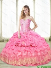 Perfect 2015 Summer Beaded Quinceanera Dresses with Appliques SJQDDT61002FOR