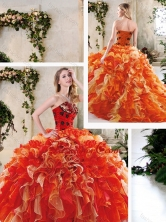 Perfect Multi Color Quinceanera Dresses with Beading and Ruffles SJQDDT243002FOR