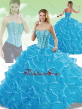 Perfect Sweetheart Detachable Quinceanera Dresses with Beading and Ruffles SJQDDT204002FOR