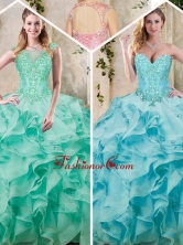 Popular Sweetheart Quinceanera Dresses with Appliques and Ruffles SJQDDT227002FOR