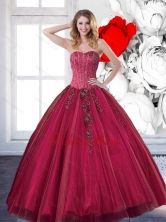 Unique 2015 Affordable Quinceanera Dresses with Beading and Appliques QDDTD23002FOR