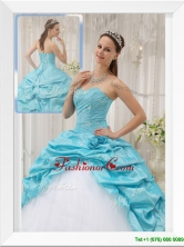 Unique Aqua Blue Ball Gown Sweetheart Quinceanera Dresses  QDZY369AFOR