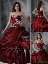 Unique  Ball Gown Strapless Appliques Quinceanera Dresses  JMCHSD083101AFOR