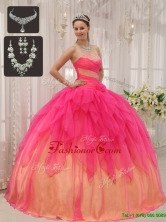 Unique Ball Gown Strapless Quinceanera Dresses with Beading  QDZY370AFOR