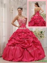 Unique Ball Gown Sweetheart Appliques Quinceanera Dresses  QDZY655AFOR