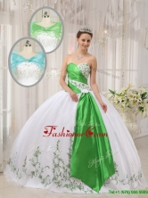 Unique Ball Gown Sweetheart Embroidery Quinceanera Dresses   QDZY408AFOR