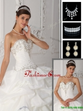 Unique  Ball Gown Sweetheart Quinceanera Dresses in White  QDZY465BFOR