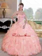 Unique Beading and Ruffles Sweetheart Quinceanera Dresses for 2015 QDDTC40002FOR