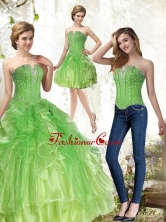 Unique Lime Green Quince Dresses with Beading and RufflesSJQDDT36001FOR