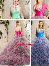 Unique  Sweetheart Quinceanera Dresses with Beading and Ruffles SJQDDT211002FOR