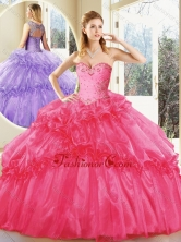 Vintage  Hot Pink Quinceanera Dresses with Beading  SJQDDT208002-2FOR