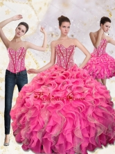 2015 Lovely Sweetheart Quinceanera Gown with Beading and Ruffles QDDTA66001FOR
